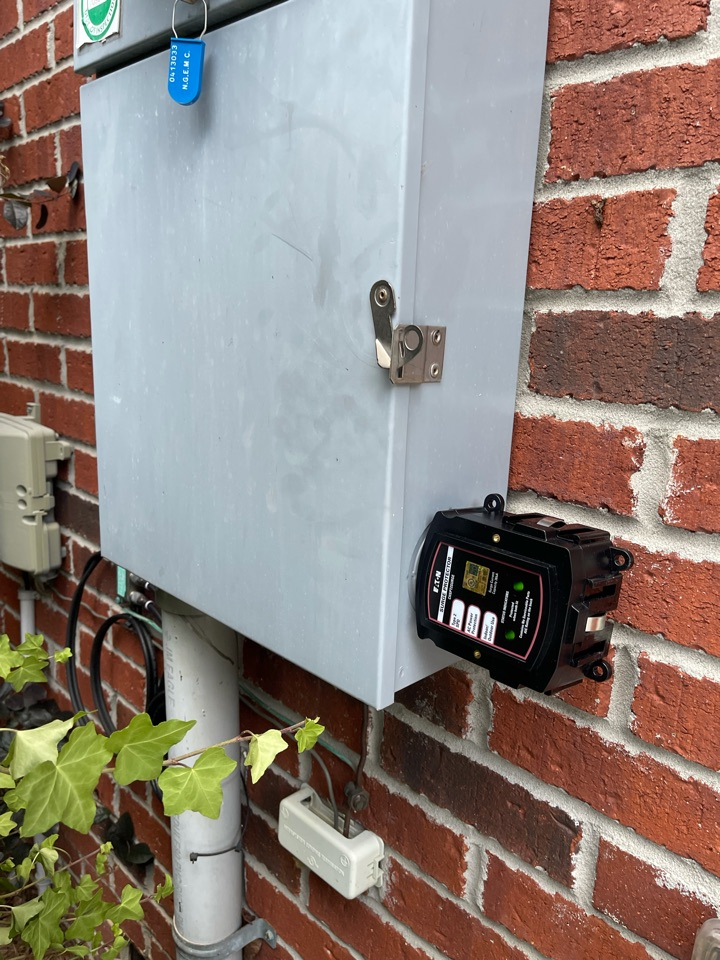 Electrician near me in cartersville ga installed a new whole home surge protector.