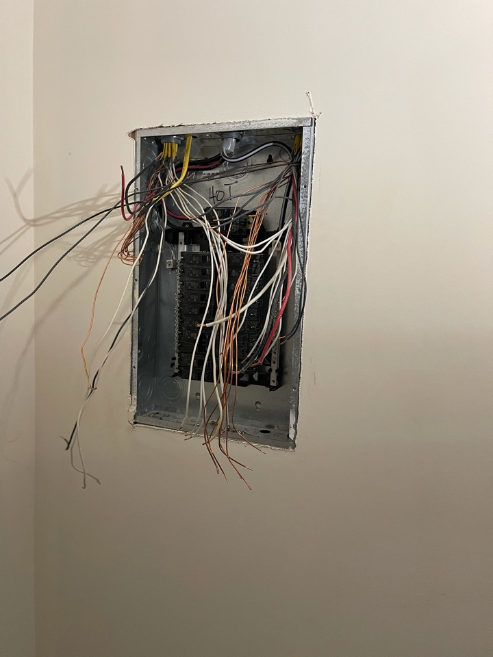 Electrician near me installed new sub panel in basement.