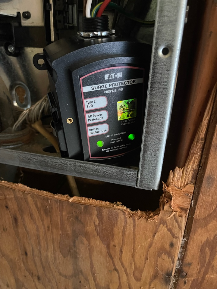 Electrician near me in Calhoun ga installed whole home surge protection.