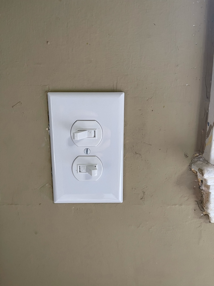 Electrician near me in waleska ga installed a new switch leg on existing circuit for a new disposal install