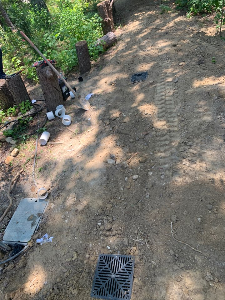 Plumber near me in Kingston ga. New French drain system
