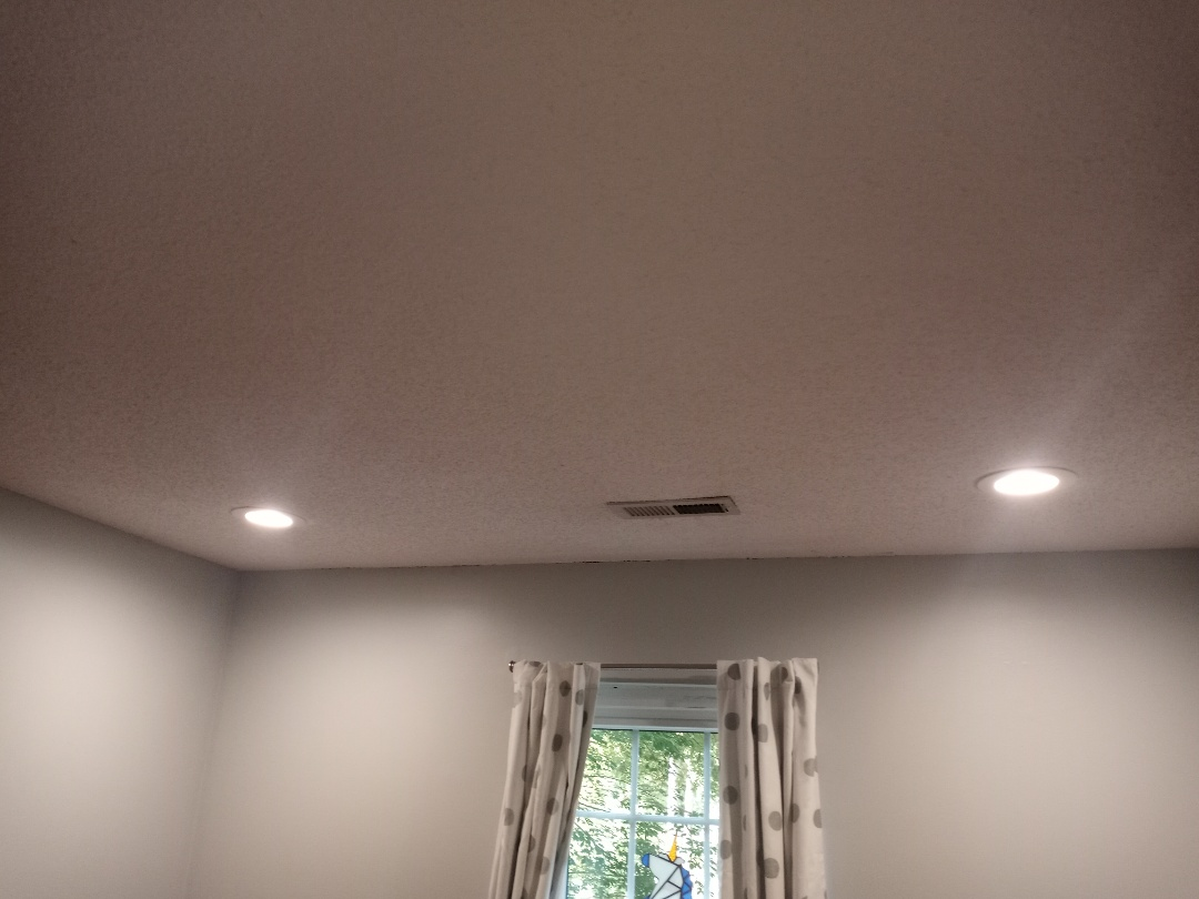 Electrician near me in Kennesaw Georgia installing LED lights
