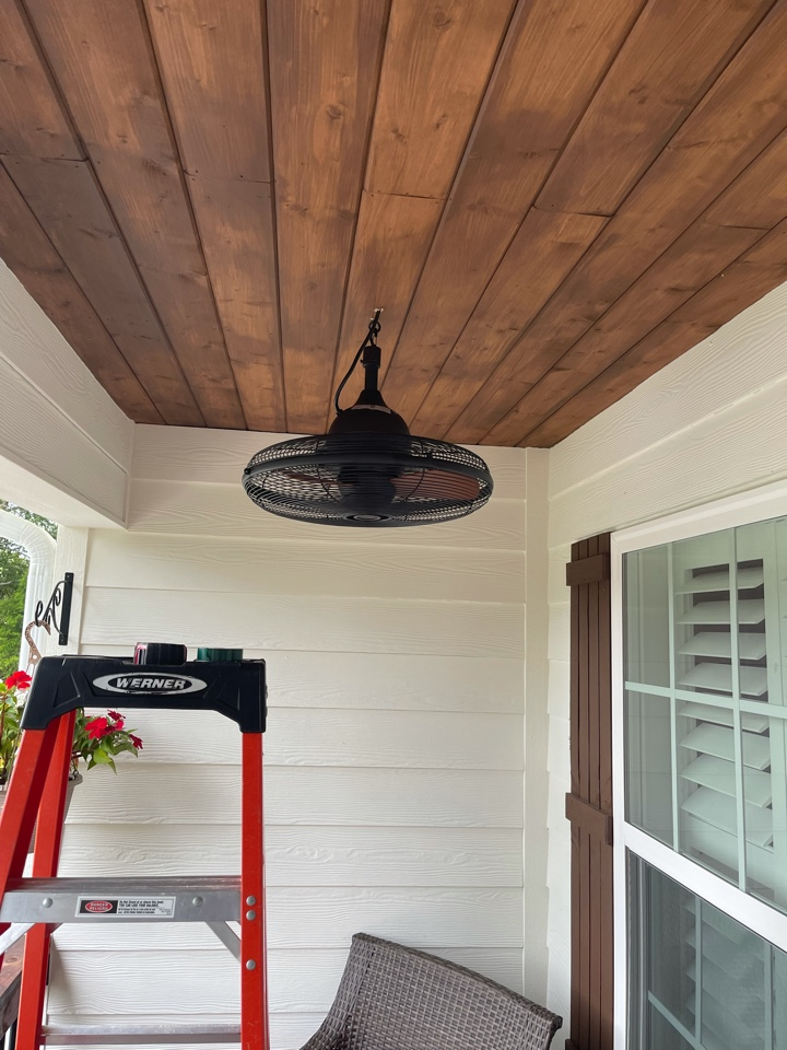 Electrician near me in rydal ha installed new customer supplied ceiling fans