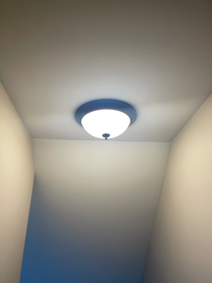 Electrician near me in adairsville ga installed a new stairway light on existing circuit.