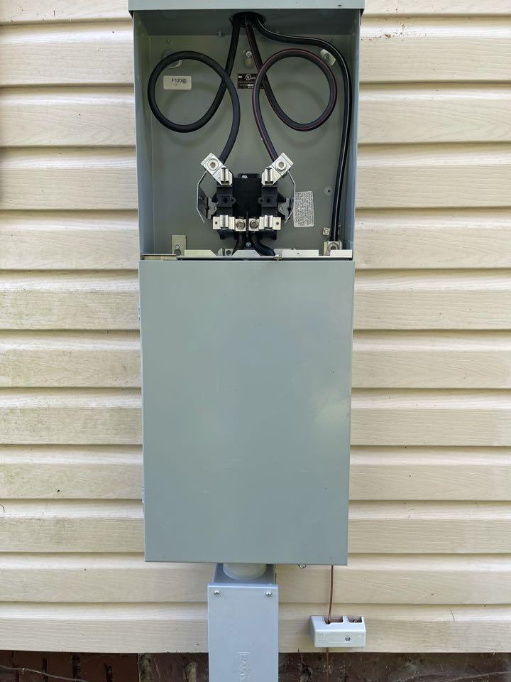 Electrician near me in dalton ga installed a new meter base
