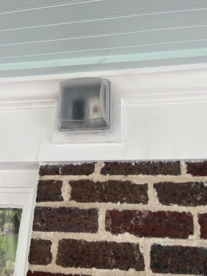 Electrician near me in adairsville ga installed a new outdoor gfci