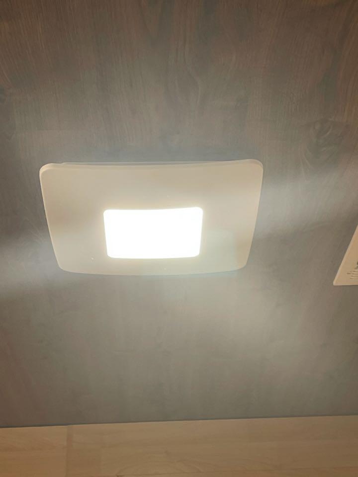 Electrician near me in rydal ga installed a new modern styler bath fan light combo
