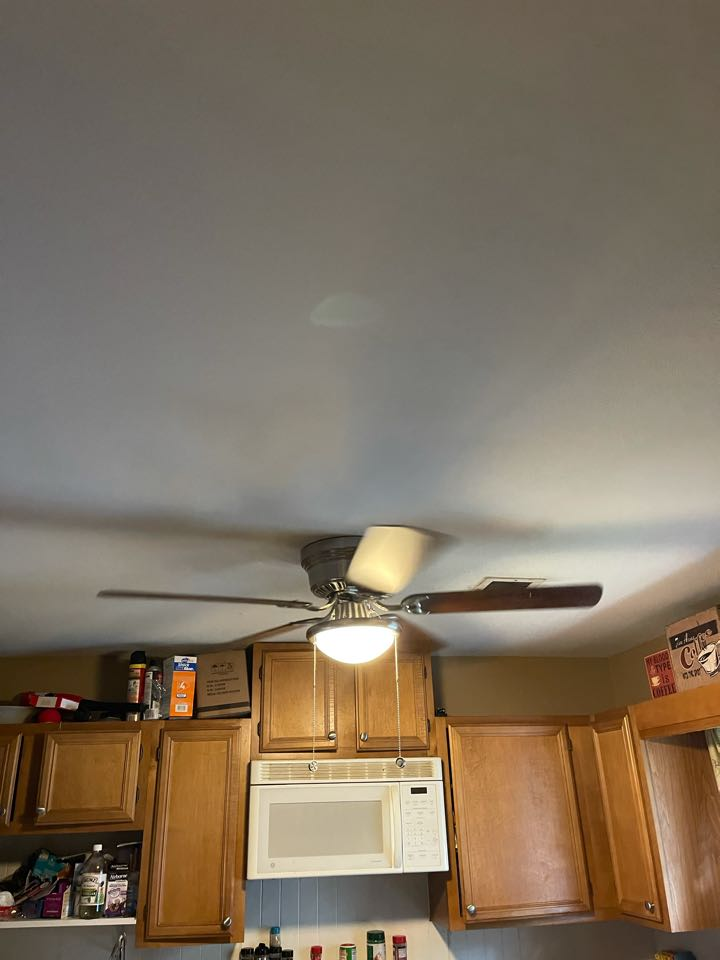 Electrician near me in rydal ga installed a new fan on a new fan rated box on existing wiring.