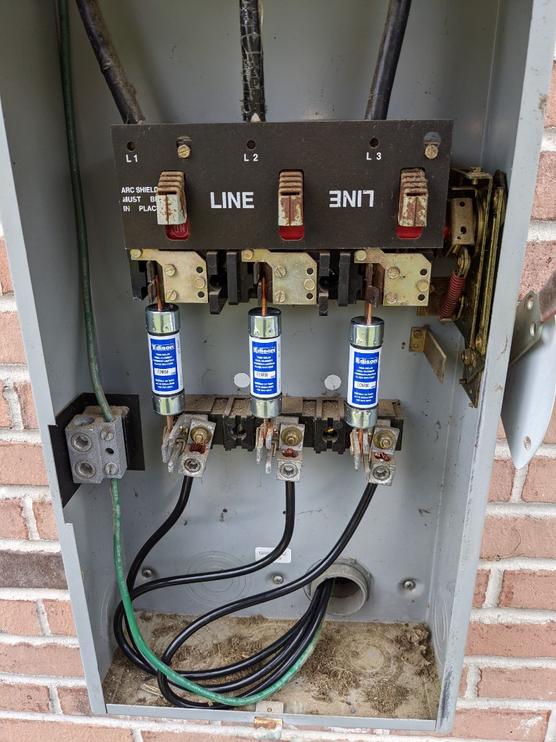 Electrician near me installed a dedicated 3 phase circuit for an industrial dishwasher.