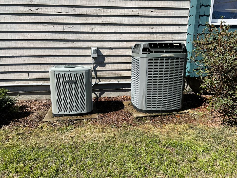 Jemison, AL - I competed a preventative maintenance on two units to prepare them for the coming hot weather. I cleaned the condenser coils, blew the drains out, checked filters, refrigerant pressures, and all operation.