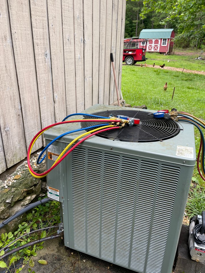 Replacing old compressor.