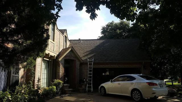 Edmond, OK - We came and offered a free inspection here and found damage that the homeowner did not even know she had!