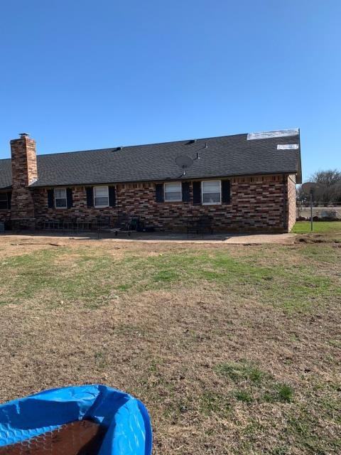 Noble, OK - This homeowner called on us when their insurance paid for a small repair. We were able to gather enough documentation to submit to the insurance company to get a full roof replacement!