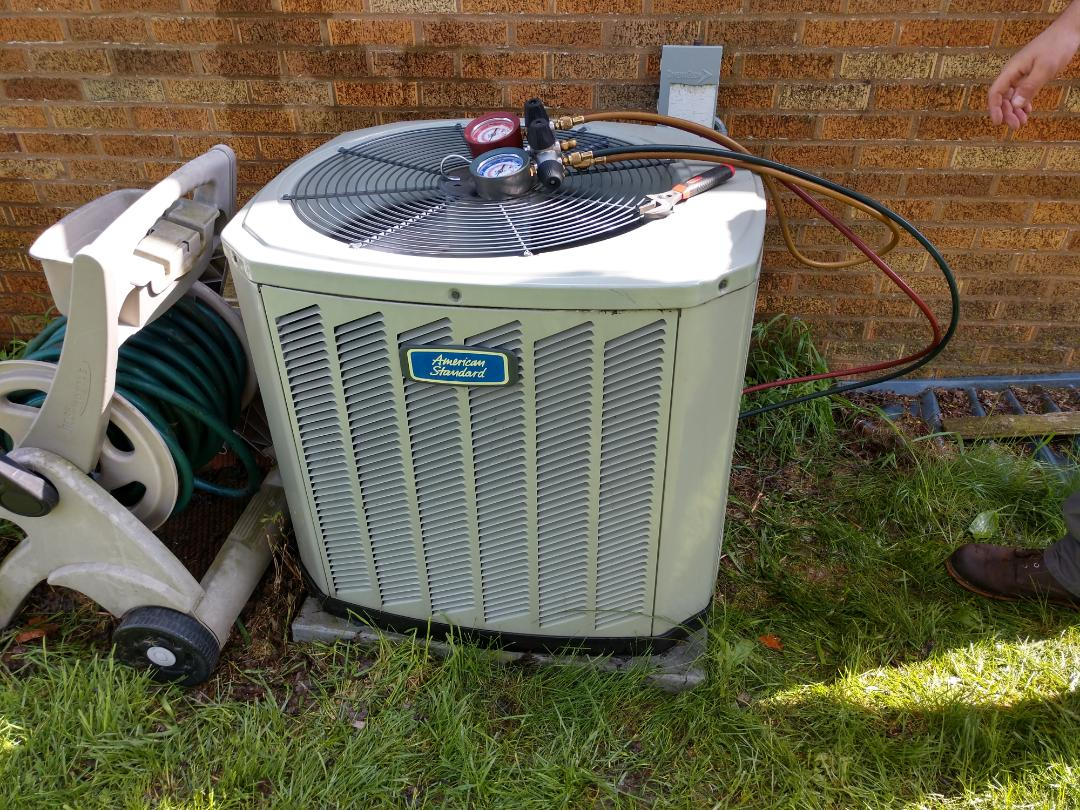 Mount Prospect, IL - AC maintenance. We performed a cleaning on an American Standard Silver 13 air conditioner