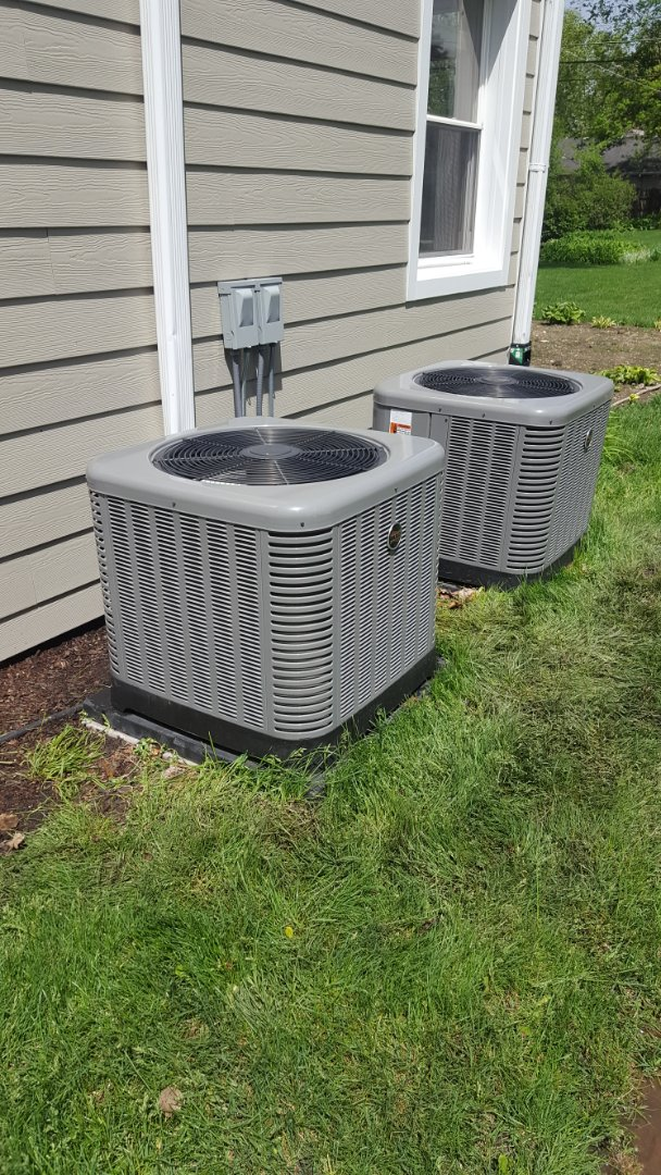 Mount Prospect, IL -  Performed AC tune up on two Ruud air conditioners.