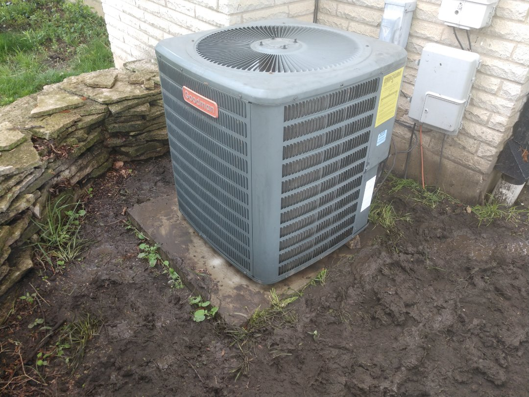 Arlington Heights, IL - Performed maintenance on a Goodman air conditioner. We also recharged the AC and replaced the contactor