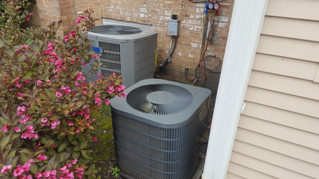 Mount Prospect, IL - Performed A.C. maintenance on Goodman and American Standard air conditioner.  Air Conditioning tune up in Mt Prospect.
