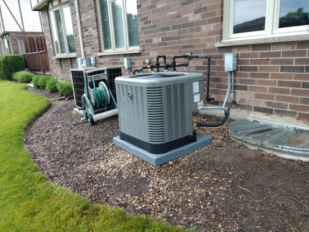 Wheeling, IL - We performed an installation on a Rheem / Ruud u802v 80% furnace, Ra14 air conditioner and Aprilaire 1210 air cleaner