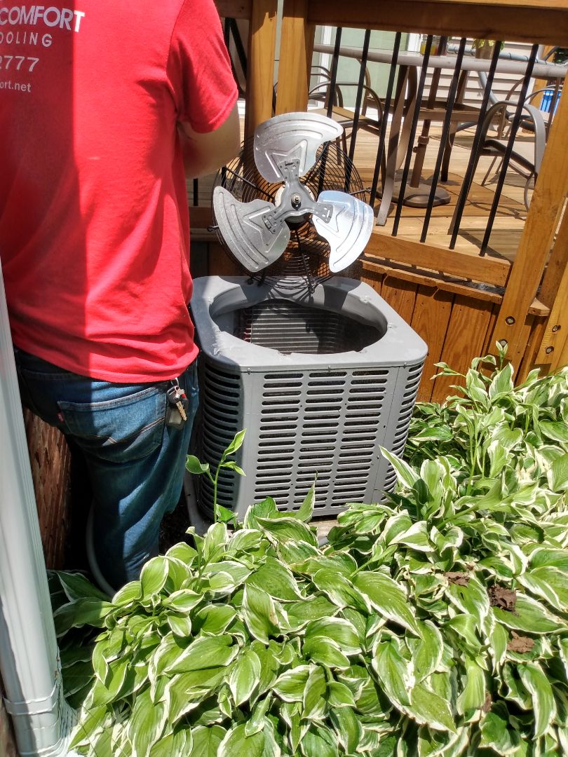 Mount Prospect, IL - Performed AC maintenance on American Standard air conditioner. Air conditioning tune up in Mt Prospect.