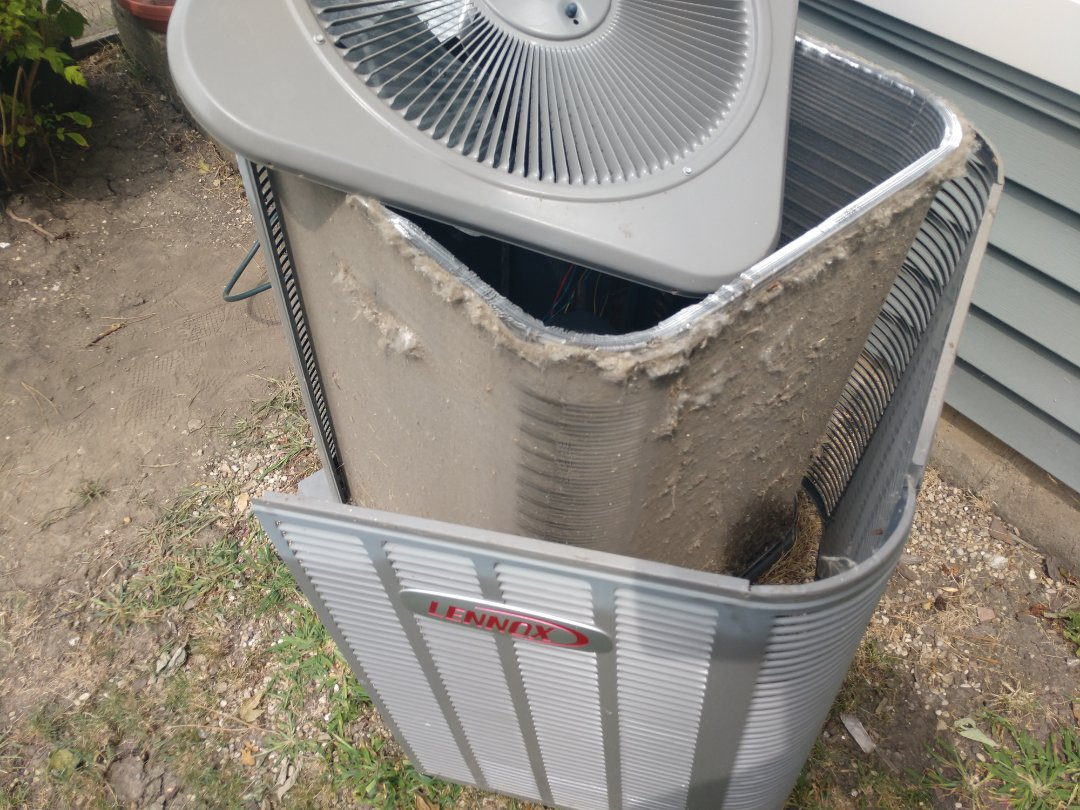 Arlington Heights, IL - Ac evaporator coil replacement. We replaced the Lennox indoor coil and performed maintenance of the air conditioner