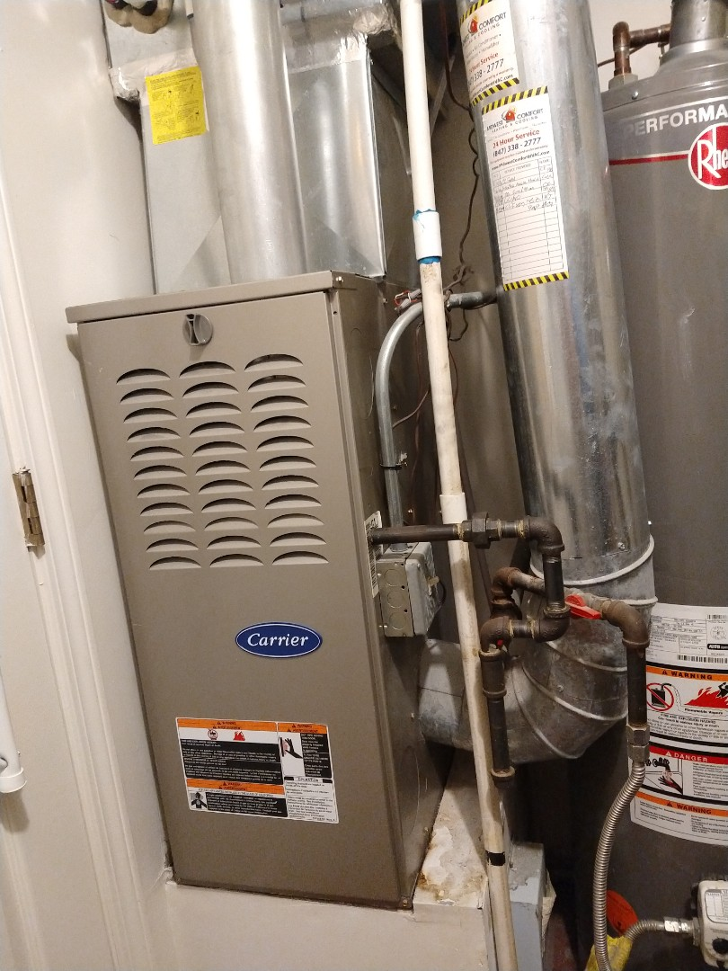 Mount Prospect, IL - Carrier furnace cleaning and safety check.