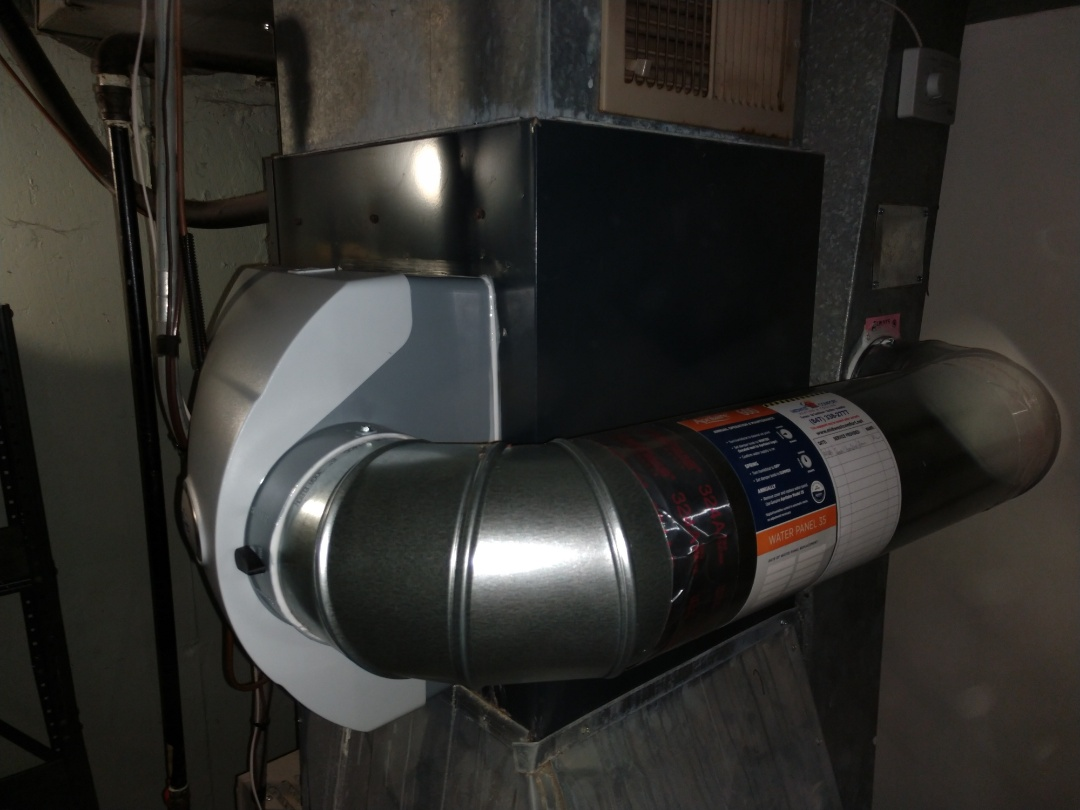 Mount Prospect, IL - Humidifier installation. We installed an Aprilaire 600 humidifier