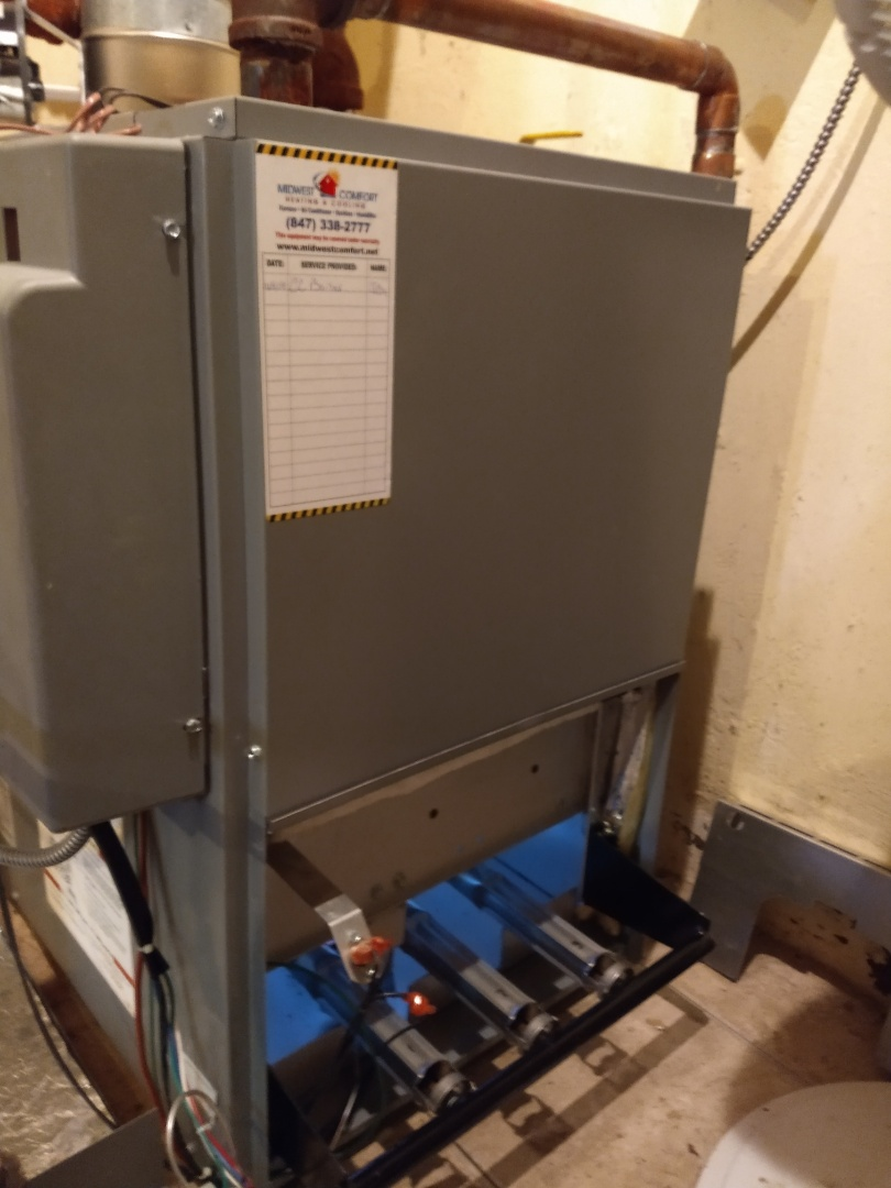 Morton Grove, IL - Boiler maintenance and tune up. Rod cleaning and pressure check