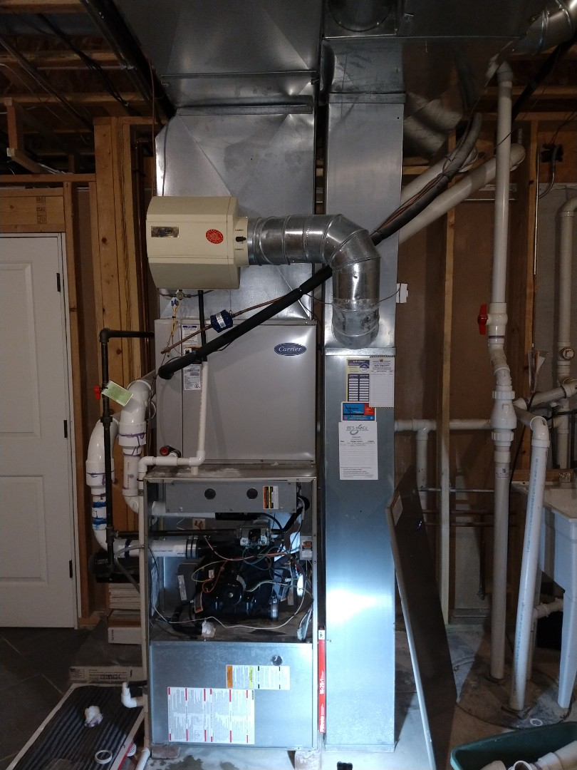 Mount Prospect, IL - Fixed leaking flue/exhaust from Carrier 90% gas furnace.
