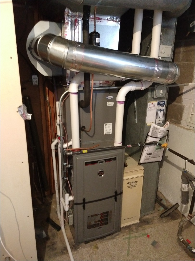 Mount Prospect, IL - New humidifier install, Aprilaire 600m with Ruud high efficiency furnace 90% and 15 SEER AC install.