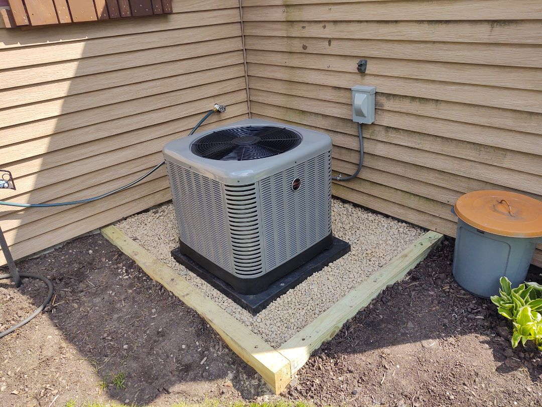 Rolling Meadows, IL - HVAC installation We installed a Ruud u802v 2 stage variable speed furnace and ra14 air conditioner