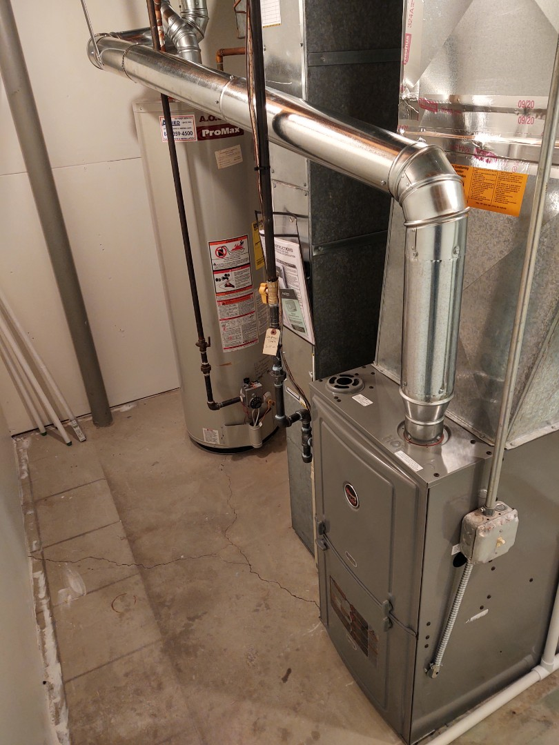 Mount Prospect, IL - HVAC installation We installed a Ruud r801c 80% furnace and an Aprilaire 600 humidifier