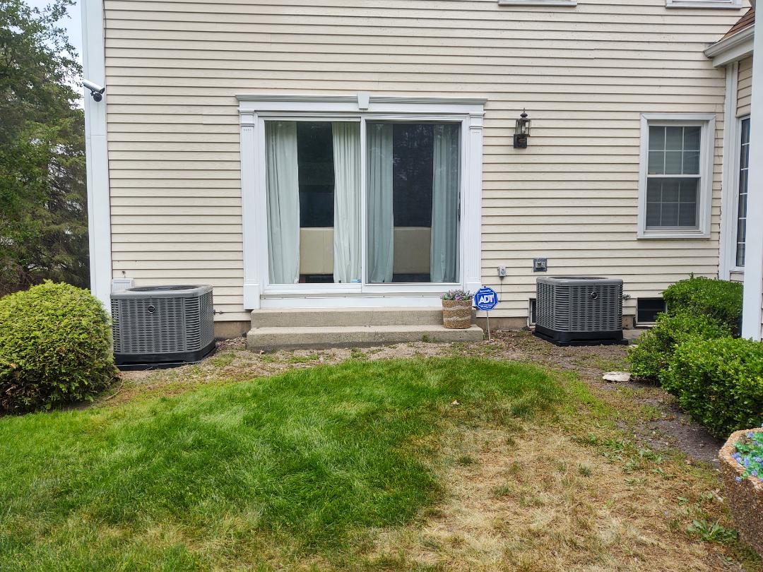 Arlington Heights, IL - Ac installation We installed (2) Ruud ra14 14 seer air conditioners and matching indoor evaporator coils.