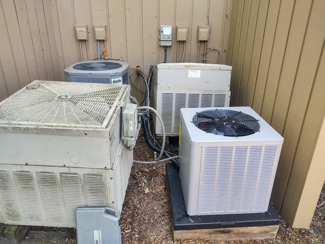 HVAC installation We replaced the existing heat pump split system with a Rheem rh1p electric furnace and wa13 air conditioner