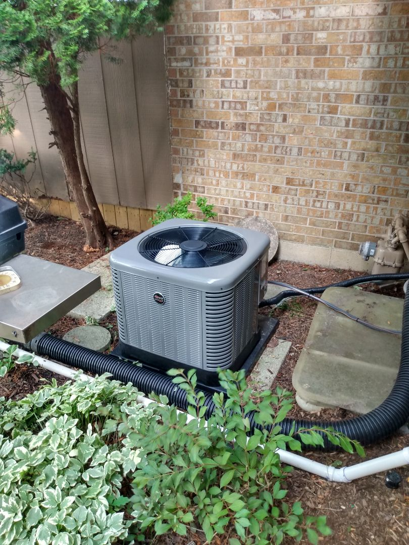 Elk Grove Village, IL - Install Ruud RA13 air conditioner. Install Ruud U802VA furnace. Aprilaire humidifier install in Elk Grove Village.