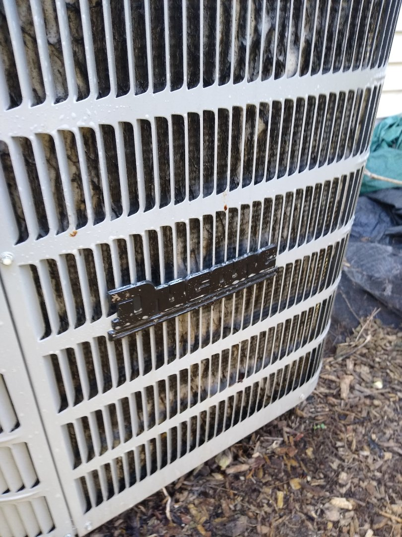Niles, IL - Ducane ac condenser was dirty and impacted. Cleaned with nubrite condenser cleaner.