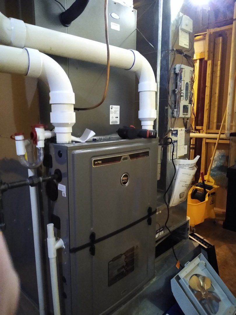 Mount Prospect, IL - Service call for pressure switch error on high efficiency Ruud furnace. Found mice living in the intake and flue. Removed and cleared all obstructions.