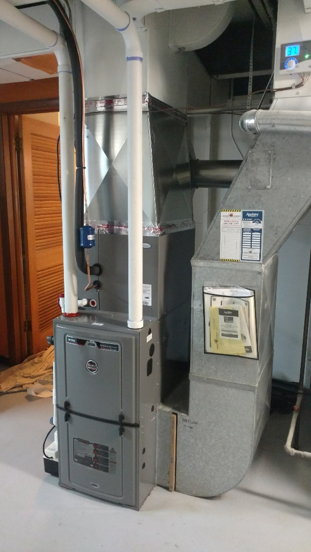 Mount Prospect, IL - Furnace installation call. Performed furnace install on Ruud unit.
