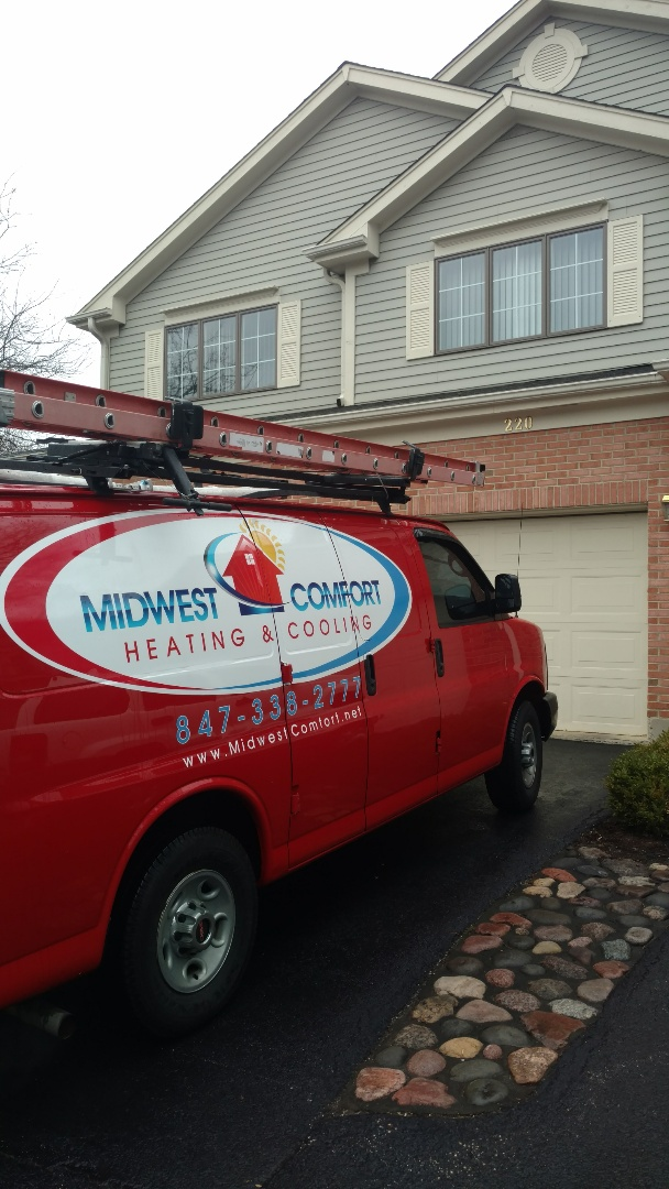 Mount Prospect, IL - Furnace service call. Performed furnace repair on carrier unit.