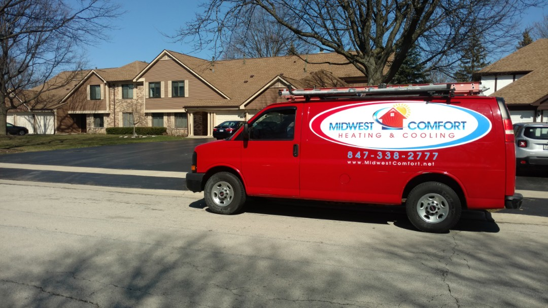Roselle, IL - Furnace maintenance call. Performed furnace tune up on carrier unit.
