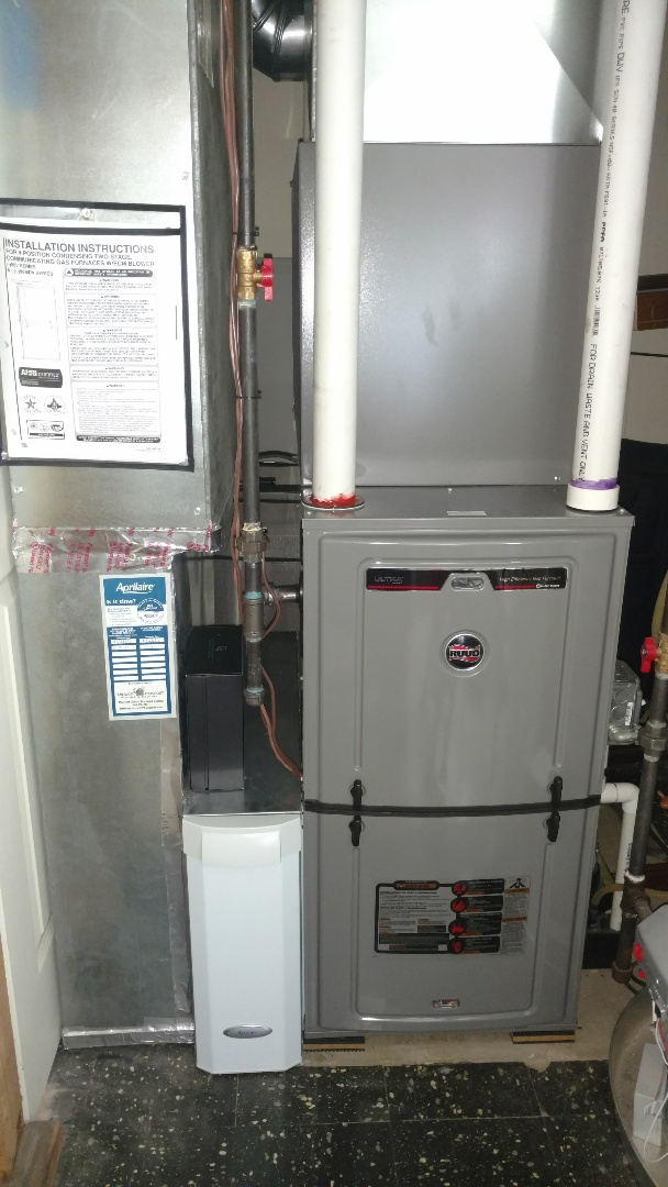 Arlington Heights, IL - Furnace installation call. Performed furnace install on Ruud unit.
