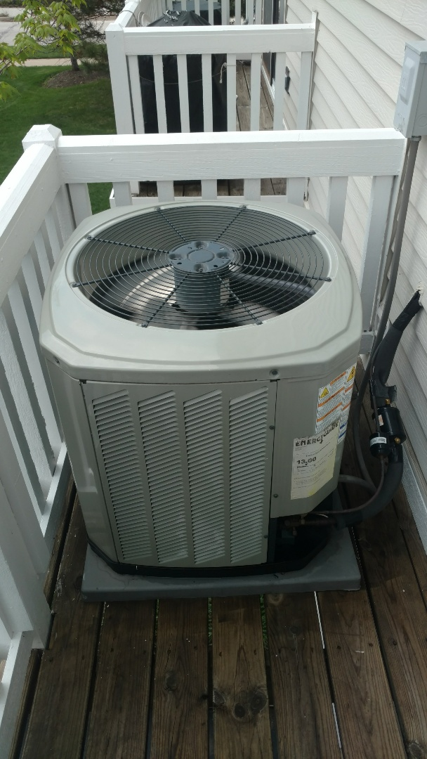 Wheeling, IL - Air conditioning service call. Performed air conditioner repair on American Standard unit.