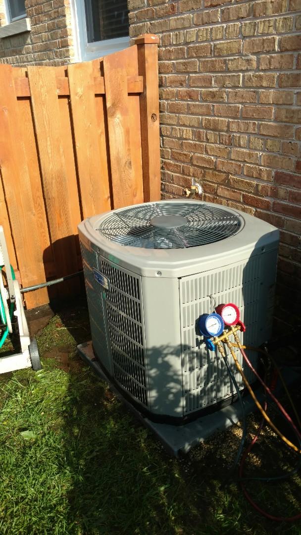 Mount Prospect, IL - Air conditioning maintenance call. Performed air conditioner maintenance on American Standard unit.