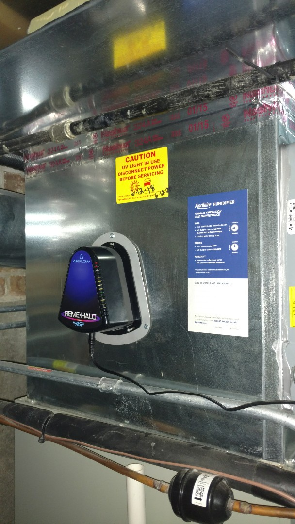 Mount Prospect, IL - UV light installation call. Performed UV light install on Trane unit.