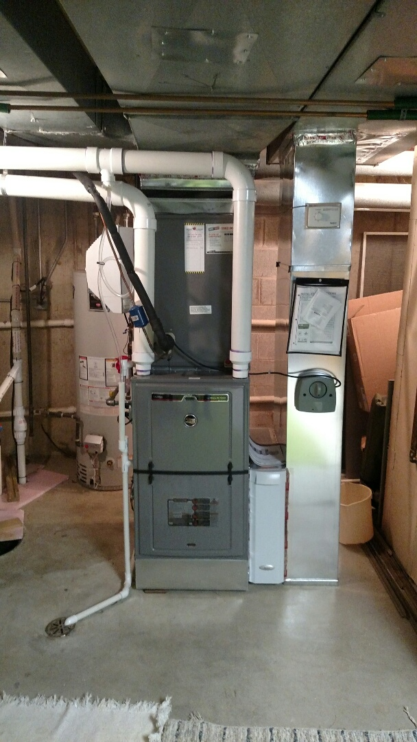 Arlington Heights, IL - Installed two Ruud High Efficiency Furnaces.