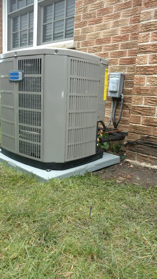 Park Ridge, IL - Air conditioning installation call. Performed air conditioner installation on American Standard unit.