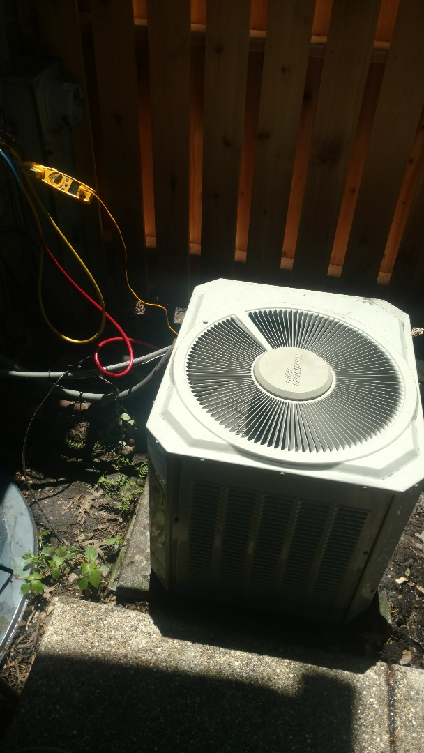 Glenview, IL - Air conditioner maintenance call. Performed air conditioning maintenance on Trane unit.