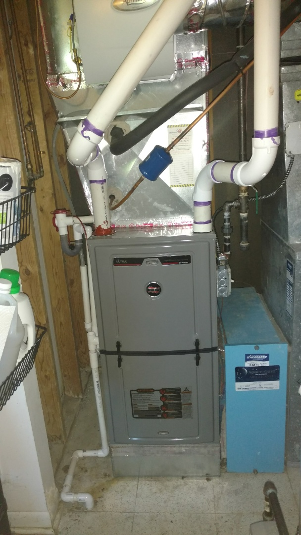 Mount Prospect, IL - Furnace maintenance call. Performed furnace maintenance on Ruud unit.