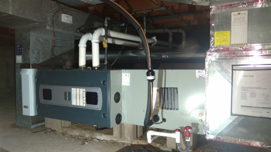 Mount Prospect, IL - Furnace installation call. Performed furnace installation on American standard unit.