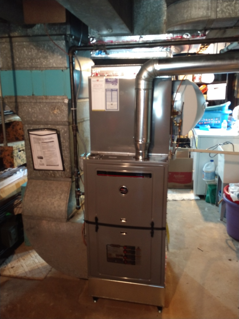 Mount Prospect, IL - Furnace and air conditioner installation call. Performed furnace and air conditioner installation on Ruud units