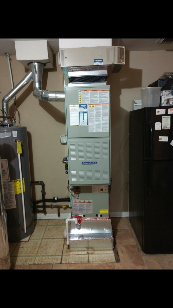 Prospect Heights, IL - Furnace installation call. Performed furnace installation on American standard unit.